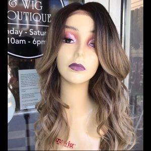 Ash blonde ombré Swisslace Lacefront wig 2019